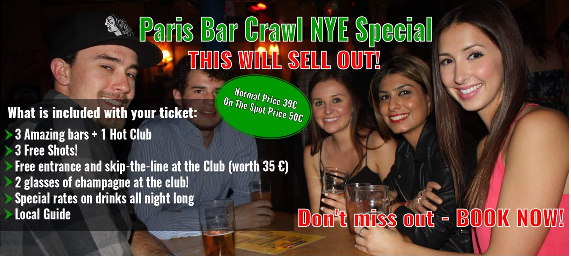 New Years Eve Paris Bar Crawl Party