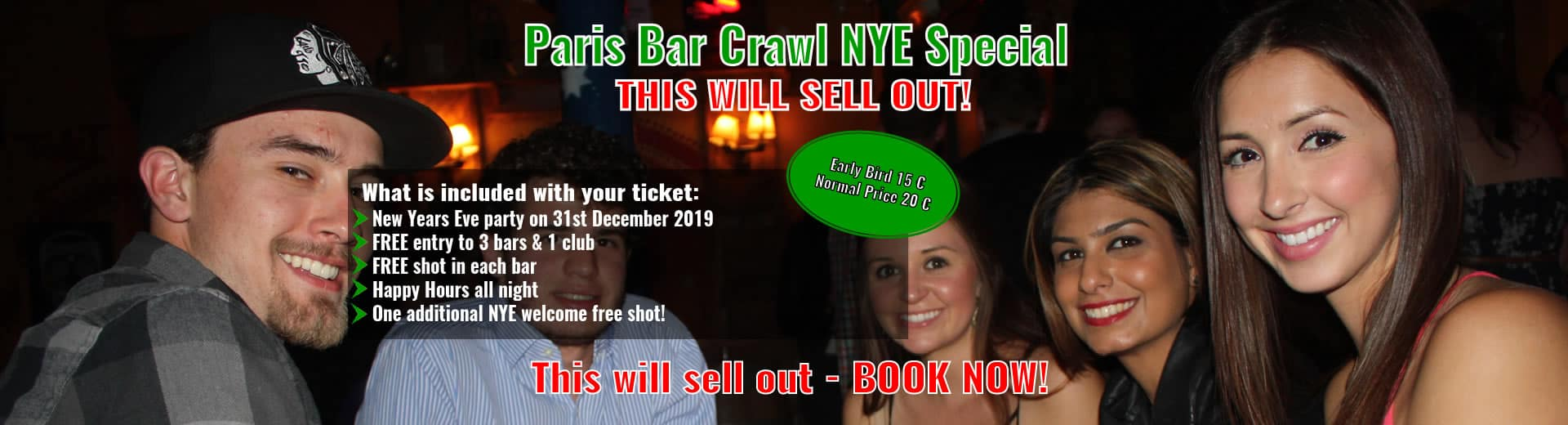New Years Eve Paris Bar Crawl