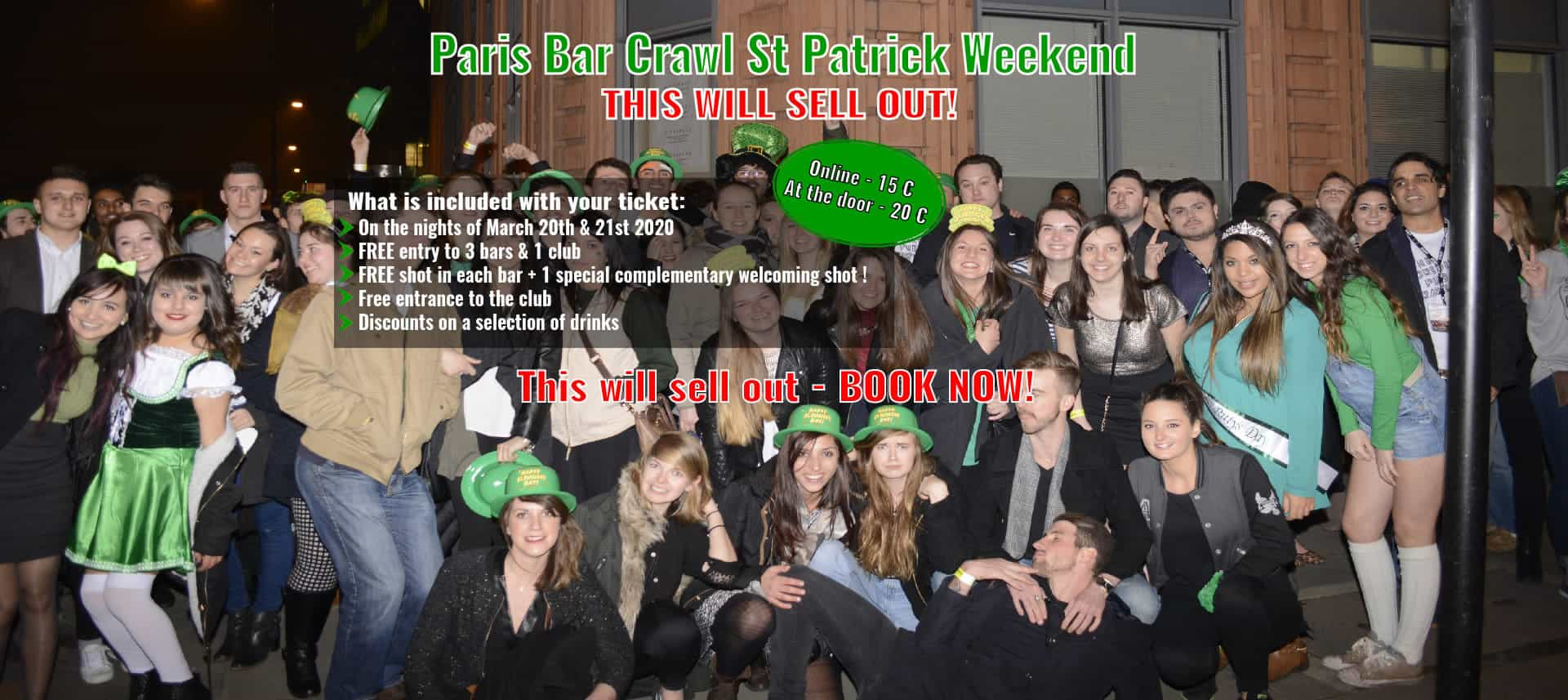 St Patrick Weekend -  Paris Bar Crawl